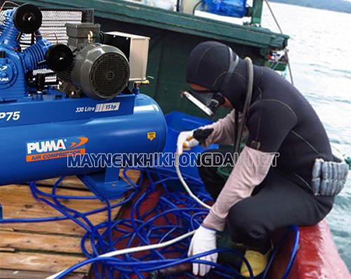 Sử dụng máy nén khí cho thợ lặn nên chọn loại không dầu