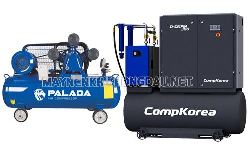 So sánh máy nén khí Palada và Compkorea