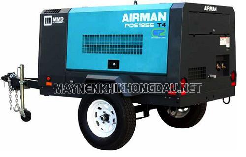 Máy nén khí di động Airman công suất lớn đáp ứng nhu cầu khí nén cao và lưu động