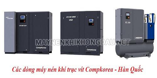máy nén khí trục vít Compkorea được đánh giá cao hẳn so với các máy nén khí thông thường khác