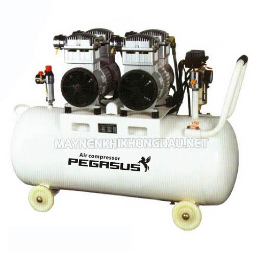Máy nén khí Pegasus không dầu giảm âm cung cấp nguồn khí nén sạch, tinh khiết