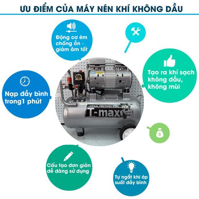 Máy nén khí không dầu có nhiều ưu điểm nên được ứng dụng rộng rãi trong cuộc sống
