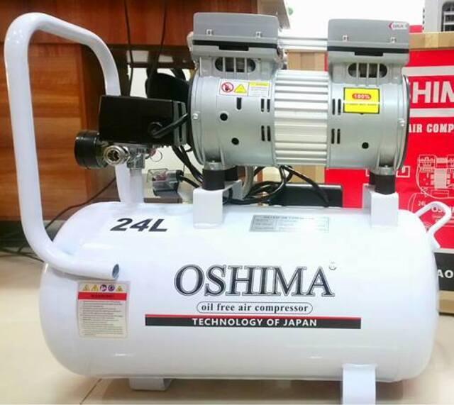 Thiết bị bơm hơi không dầu Oshima 24L