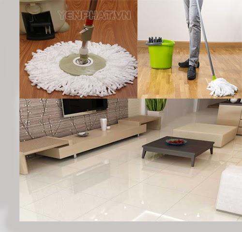 Cây lau nhà 360 được xem là một trong những vật dụng hữu hiệu trong công cuộc vệ sinh sàn nhà.