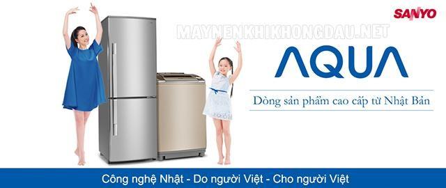 Hiện nay thương hiệu AQUA đã thay thế cho thương hiệu Sanyo cũ.