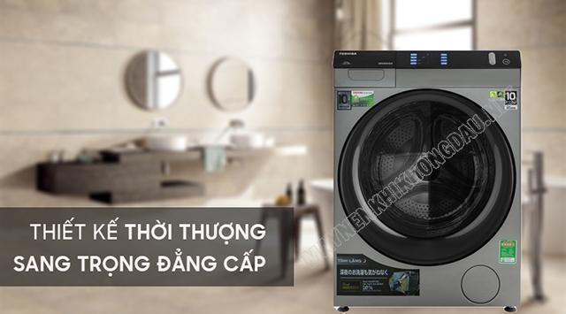 Thiết kế sang trọng thời thượng và đẳng cấp của dòng máy giặt Toshiba Inverter.