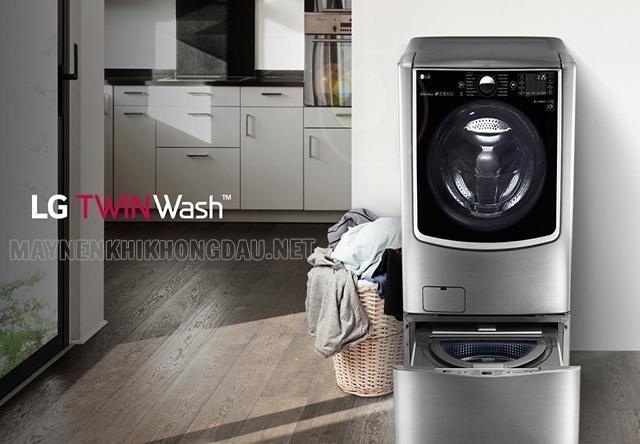 Máy giặt LG tích hợp máy giặt mini và máy giặt cửa trước.
