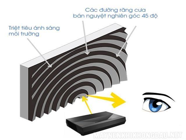 Cấu tạo của màn chiếu quang học.