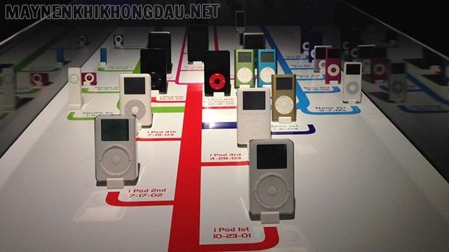Quá trình phát triển các dòng iPod.