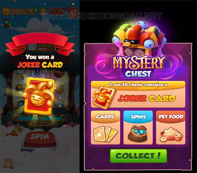 Thẻ Joker Card là một loại thẻ đặc biệt trong game Coin Master