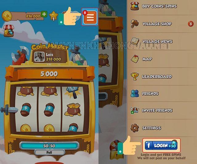 Liên kết game với tài khoản Facebook