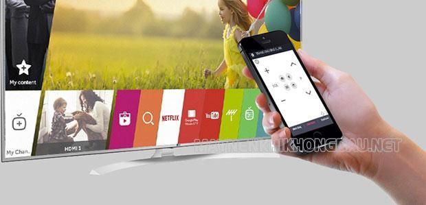 Điều khiển tivi LG bằng điện thoại
