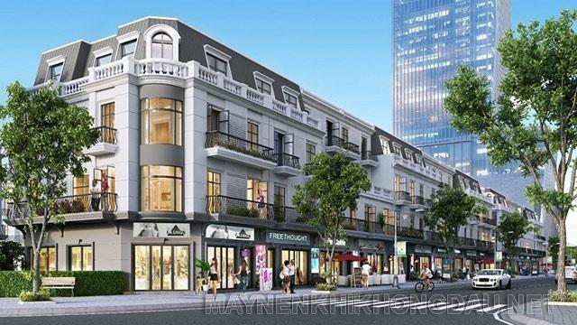 Shophouse trong cùng một tòa có thiết kế và cách trang trí giống hệt nhau nên rất khó để thay đổi