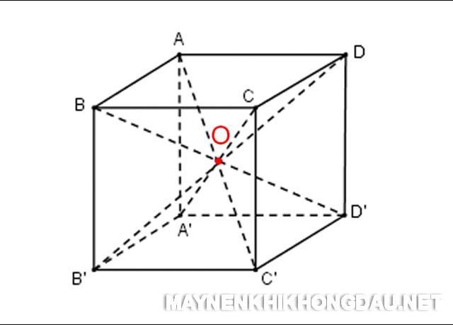 Điểm O chính là tâm của hình lập phương