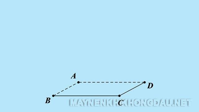 Vẽ mặt đáy hình lập phương