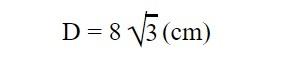 Độ dài đường chéo của khối lập phương