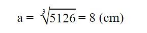 Độ dài một cạnh của khối lập phương