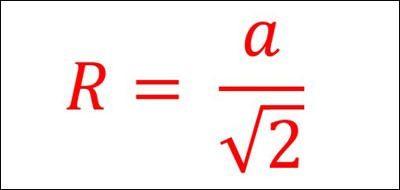Cách tính bán kính mặt cầu tiếp xúc với các cạnh của khối lập phương