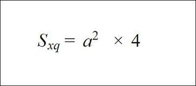 Công thức tính diện tích xung quanh hình lập phương