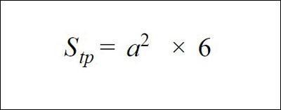 Công thức tính diện tích toàn phần hình lập phương
