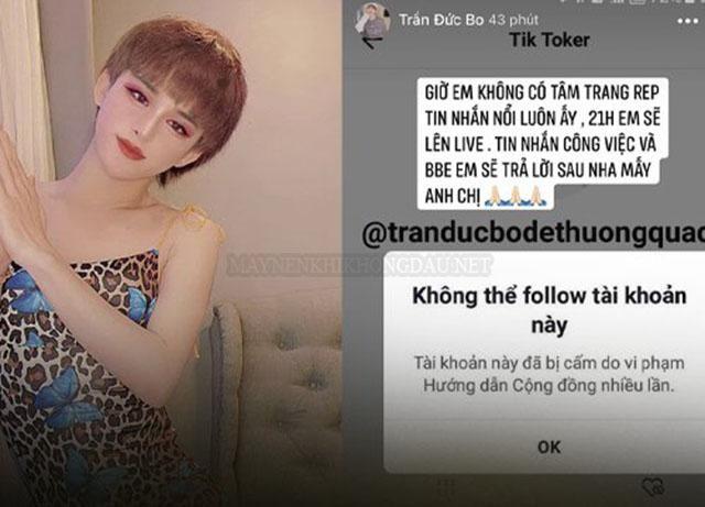 Trần Đức Bo từng bị mất tài khoản Tik Tok