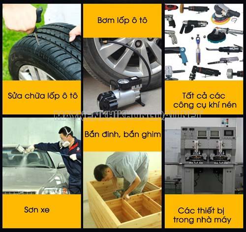 Máy bơm hơi khí nén mini 12v có nhiều công dụng hữu ích